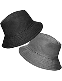 0fb159ba88616 TOSKATOK UPF 50+ Ladies Women s Reversible Cotton Bucket Sun Hat - 2 Hats  ...