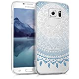 kwmobile Samsung Galaxy S6 / S6 Duos Hülle - Handyhülle für Samsung Galaxy S6 / S6 Duos - Handy Case in Blau Weiß Transparent