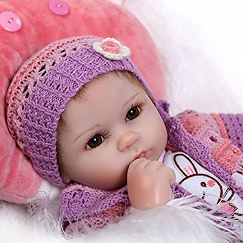 Life Like Newborn Realistic Dolls Real Looking Reborn Baby Doll Soft Vinyl Silicone Toy for Xmas Gift Free Magnet Pacifier Dummy