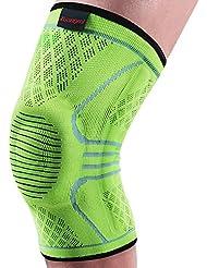 kuangmi respirant ¨¦lastique Support genou manches genouill¨¨re Protection d'¨¦cran chaud de tennis de pour la course ¨¤ pied, etc.