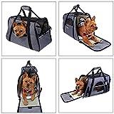 Lalawow Transporttasche für Haustiere Die Fluggesellschaft Genehmigt Weich-Seitig für Kleine Hunde Katzen (Grau) - 8
