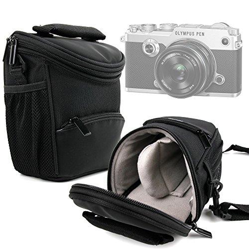 Bolso para Cámara Panasonic Lumix DMC GF7 | Lumix DMC-TZ70EB-S | Lumix DMC-TZ70EG-K - Con Asa Y Bandolera De Transporte - Compartimentos para la cámara fotográfica Accesorios - DURAGADGET