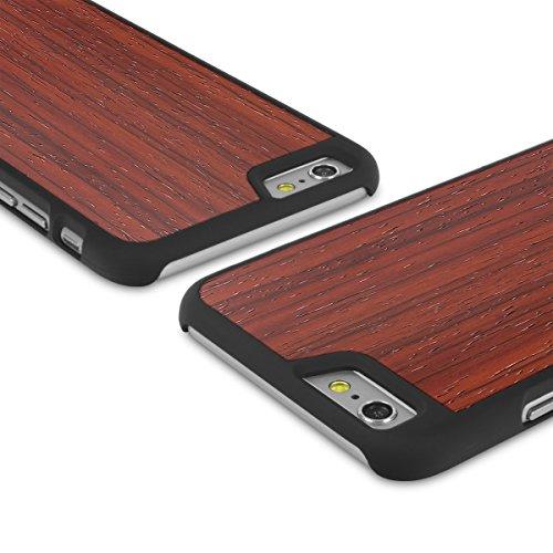 Cover-Up WoodBack bois noir mat pour iPhone 6 / 6s - Loupe d'orme des Carpate - Padauk
