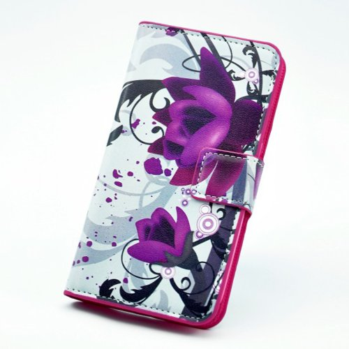 Printing-Serie Leder Hülle für Apple IPhoneSE IPhone 5S SE Iphone5 Zebra -Pferd PU-Leder Etui Zeichnung Phone setzt Wasser setzt Handy-Tasche Schutzhülle Abdeckung Handy-Zusatz Protect Skin - Zebra… große Blume
