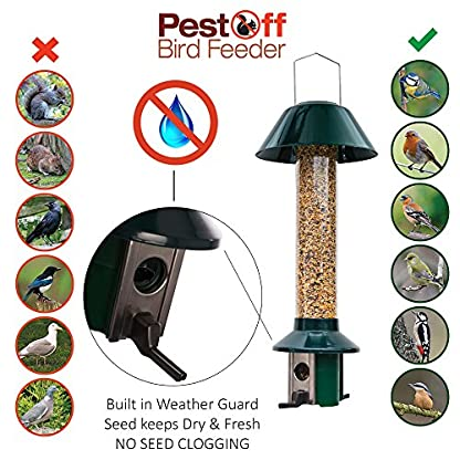 Squirrel Proof Wild Bird Feeder - Roamwild PestOff (Mixed Seed / Sunflower Heart Feeder) 4