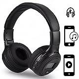 Handy Wireless Kopfhörer | für ALDI Medion Life E4506 | 3.5 mm Aux-Ausgang, eingebauten HD Mikrofon | Kabellos Stereo Headset | Kopfhörer Schwarz ZB19