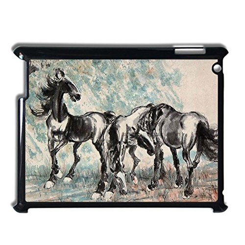 For Girls Phone Shells Rigid Plastic Fascinating Have With Asian Artists Horse For Ipad 2 Or 3 Or 4 (Abs-print Jersey)
