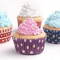 Ancdream Pirottini di Carta Tazza Cupcake Muffin Torta Carta Bigné