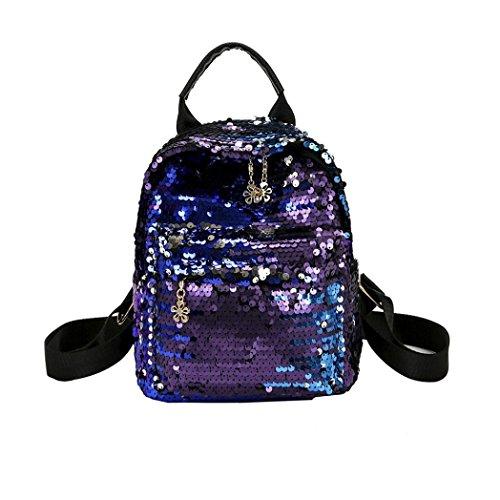 Beikoard Vendita Calda Satchel da Viaggio con Paillettes Stile Shinning Glitter Bling (Blu)