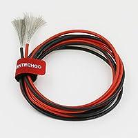 bntechgo 14gauge silicone Filo ad alta temperatura resistente morbido e flessibile 14AWG silicone Wire 400fili di Tined filo di rame - 600v Wire