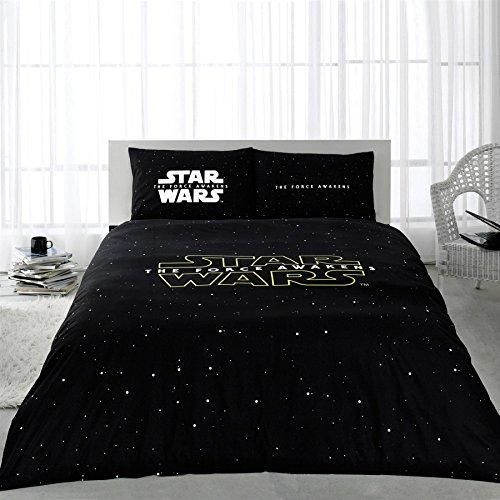100% Baumwolle 4Star Wars Single Twin Größe Steppdecke Bezug Set Yoda Darth Vader HAN SOLO Storm Trooper Thema Betten Bettwäsche (Paramus) (Star Wars Bettwäsche Twin)