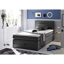 suchergebnis auf f r boxspringbett 100x200 mit bettkasten. Black Bedroom Furniture Sets. Home Design Ideas