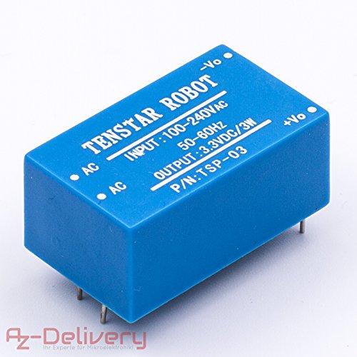 AZDelivery 220V zu 3,3V Mini-Netzteil für Arduino und Raspberry Pi (Ac Input Power Module)