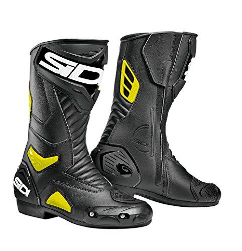 SIDI Stivali Moto Modello Performer Nero - Giallo Boots Racing Pista Strada (Nero - Giallo, 40)