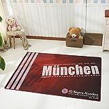 WEII Fußball Club Teppich Schlafzimmer Wohnzimmer Couchtisch Sofa Persönlichkeit Kreative Rutschfeste Matte,Manchester Unit,2 m