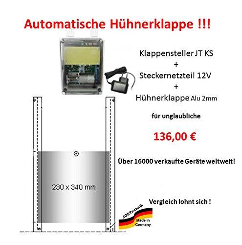 automatische Hühnerklappe mit Klappe/Schieber - Sommeraktion vom Hersteller bis 01.08.2017!!