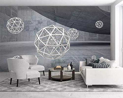 Apoart 3D Wandtapete Fototapete Abstrakten Architektonischen Raum Stereokugel 3D Hintergrund Tapeten Wohnkultur Wandbilder350Cmx245Cm -