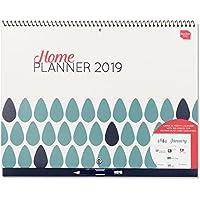 Boxclever Press 2019 Home Planner. Calendario de pared para gente atareada. Vista de mes con espacios para cada día. Comienza desde ahora y se extiende hasta diciembre 19.