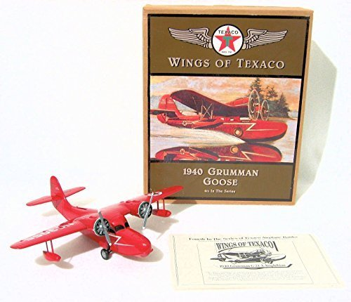 wings-of-texaco-4th-in-the-series-1940-grumman-goose-die-cast-model-coin-bank-by-ertl
