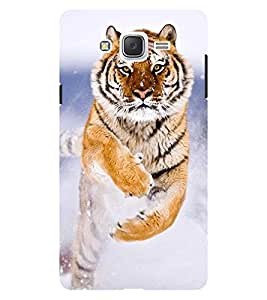 Chiraiyaa Designer Printed Premium Back Cover Case for Samsung Galaxy On7 (tiger jump) (Multicolor)