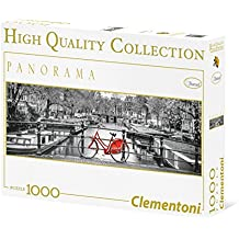 Clementoni 39386 - Puzzle 1000 Panorama Hqc Amsterdam Bycicle