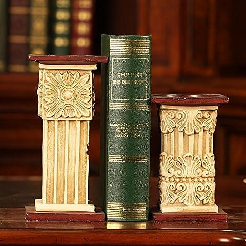 Portacandele,Roma pilastro stile libro americano cartella creative home office desktop prenota documento mobili decorazioni soft pack è una parte/gruppo,Portacandele moderni