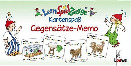 LernSpielZwerge Kartenspaß: Gegensätze-Memo (48 Spielkarten)