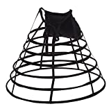 GRACEART Victorian Kleid Pannier Hoop Rock mit Bum Padding Treiben