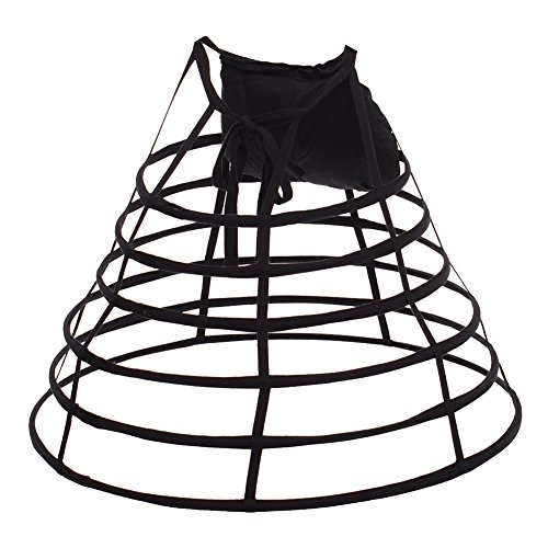 GRACEART Victorian Kleid Pannier Hoop Rock mit Bum Padding ()