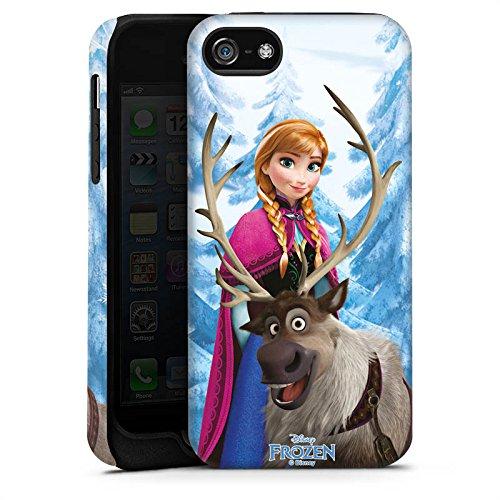 Apple iPhone X Silikon Hülle Case Schutzhülle Disney Frozen Anna & Sven Fanartikel Geschenke Tough Case matt