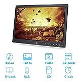 Cornice per foto di musica digitale da 15', schermo di controllo touch HD Risoluzione 1280 * 800 Cornice per foto Album Sveglia Lettore film