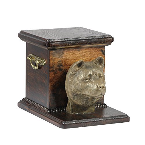 Akita Inu, Memorial, Urne für Hunde Asche, mit Hund Statue, - Akita-statue