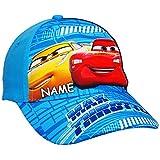 alles-meine.de GmbH 2 Stück _ Basecap - Disney Cars - inkl. Name - Größe 3 bis 12 Jahre - universal & verstellbar - 100 % Baumwolle - für Jungen - Kinder - Mütze / Sommermütze Ba..