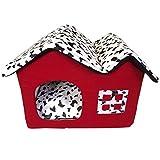 Vabell Luxus Doppel Top Haustier Haus Hund Katze Schlaf Bett Tragbare Warme gemütliche Welpen Bett