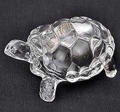 Idea Regalo - Petrichor Fengshui Vastu originale trasparente cristallo tartaruga per pace e benessere, Tessuto, Clear (XtraLarge)