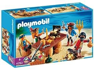 Playmobil - 4292 - Playmobil  - Bande De Pirates Avec Butin