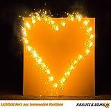Lichterbild: Brennendes Herz zur Hochzeit