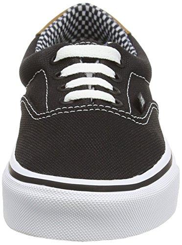 Vans U ERA 59 WAXED, Sneakers Basses mixte adulte Noir ((waxed Canvas) Black)