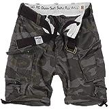 Surplus Division Herren Cargo Shorts, blackcamo, 4XL
