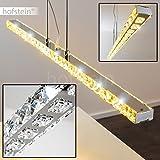 LED Hängeleuchte LORADO mit tollen Gläsern – länglicher Lampenschirm – 3500 Kelvin – 1620 Lumen – Wohnzimmerleuchte – Esszimmerlampe – Flurlicht – fest installierte LED