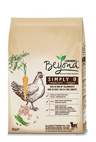 Beyond Purina Simply 9 Hundetrockenfutter, Natürliche Zutaten, 2er Pack (2 x 3kg Beutel)