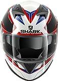 SHARK S700 S PINLOCK LAB - Integralhelm, Farbe weiss-schwarz-rot, Größe L (59/60)