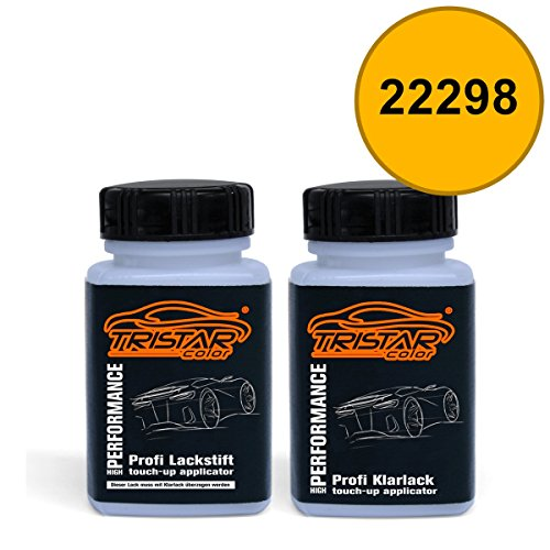 Preisvergleich Produktbild Lackstift Set AGRICULTURAL / AGRAR 22298 STIGA GEEL ab 1993 - Autolack & Klarlack - je 50 ml