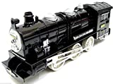 Locomotive Steam Train with Light & Sound Friction Powered Train Toy Train New - KandyToys - amazon.co.uk