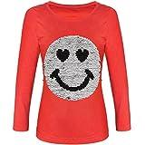 BEZLIT Mädchen Langarmshirt Wende Pailletten Lächeln 21512, Farbe:Rot, Größe:140