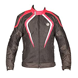 Rynox Nylon Mesh Tornado Jacket (Red, Medium)