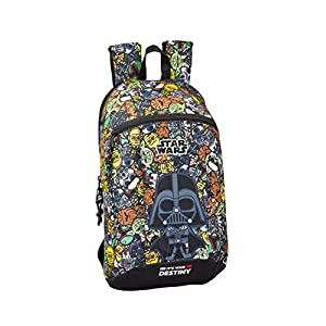 51NH4BLm6oL. SS300  - Safta - Star Wars Galaxy Oficial Mini Mochila Uso Diario 220x100x390mm