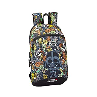51NH4BLm6oL. SS324  - Safta - Star Wars Galaxy Oficial Mini Mochila Uso Diario 220x100x390mm