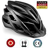 Shinmax Fahrradhelm mit StVZO LED Licht, männer & Frauen Fahrradhelm Radrennen MTB Helm mit Sonnenschutzkappe abnehmbarem magnetischem Visier Superleichter Verstellbarer Fahrradhelm mit CE-Zertifikat