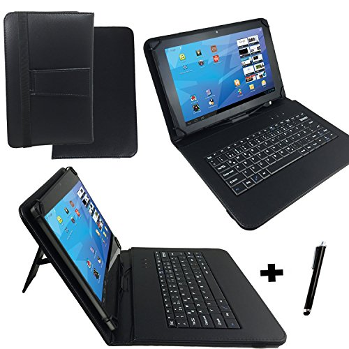 Qwertz Tastatur Tablet Tasche für Point of View ONYX P6412 10
